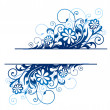 Stock Vector: Blue floral border