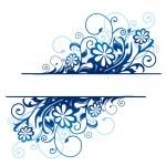 Blue floral border — Stock Vector