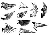Set of heraldic wings — Stockvector