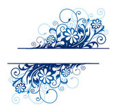 Blue floral border — Stock Vector