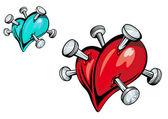 Broken heart design — Stock Vector