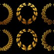 Golden laurel wreaths set — Stock Vector #8758206
