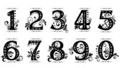 Vintage digits and numbers — Stock Vector