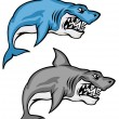 Stock Vector: Danger sharks