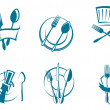 Restaurant menu icons and symbols — Stock Vector #8987697