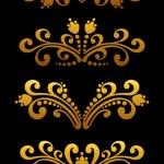 Vintage golden flowers — Stock Vector #8987699