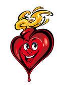 Smiling cartoon heart — Stock Vector