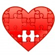 Puzzle heart — Stock Vector #9103388