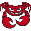 Angry crab mascot - Stock Vector