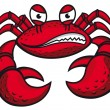 Angry crab with claws - Stock Vector