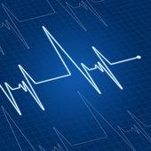 Heart pulse on screen — Stock Vector