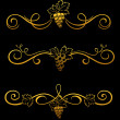 Golden grape borders - Imagen vectorial