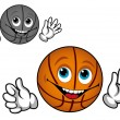 Smiling basketball ball - Imagen vectorial