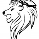 Heraldic lion with thorny wreath — Stock Vector