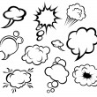 Speech bubbles and clouds — Stock Vector