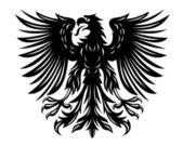 Black eagle — Stock Vector