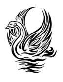 Oiseau cygne — Vecteur
