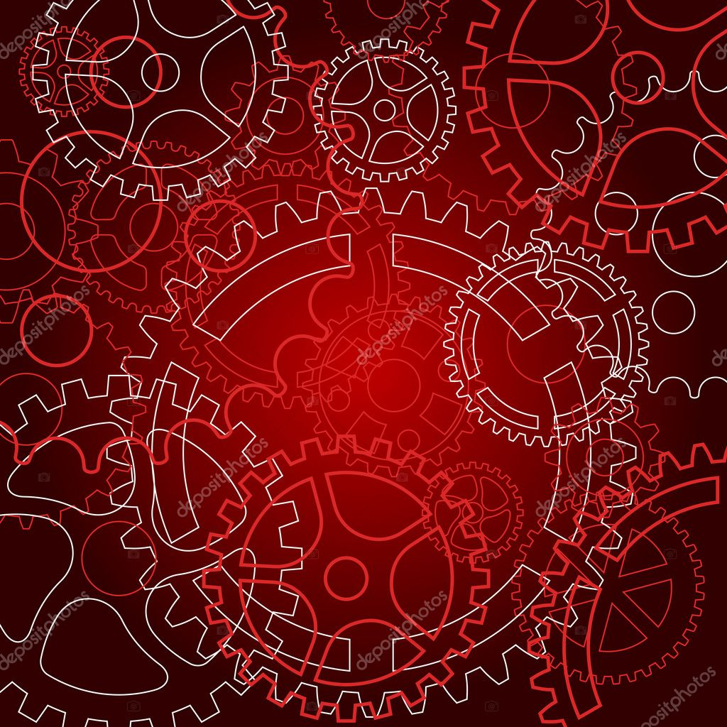 Abstract background with gears for technology or time concept design — Stock Vector #9335445