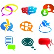 Royalty-Free Stock Vector Image: Chat and communication icons