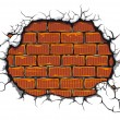 Damaged brickwall — Stock Vector #9452216
