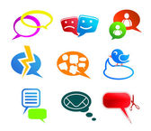 Chat and communication icons — Stock Vector