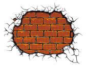 Damaged brickwall — Stock Vector