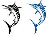 Marlin mascot — Stock Vector