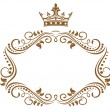 Stock Vector: Elegant royal frame with crown