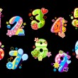 Colorful children numbers and digits - Image vectorielle
