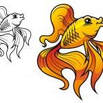 Cartoon golden fish — Stock Vector