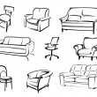 Furniture vector elements - Stock Vector