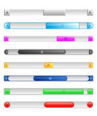 Sliders and scroll buttons — Stock Vector