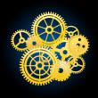 Clockwork elements — Stock Vector