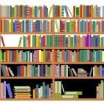 Bookshelf with books — Stock Vector #9688512
