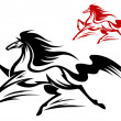 Running stallion - Stock Vector