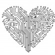 Computer heart — Stock Vector