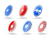 Symboles de cd et dvd — Vecteur