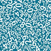 Naadloze patroon met getallen — Stockvector