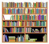 Bookshelf with books — Stock Vector