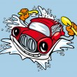 Royalty-Free Stock Vector Image: Car washing and cleaning with shampoo and sponge