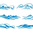 Wave symbols - Stock Vector