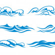 Wave symbols — Stock Vector #9818387