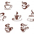 Coffee cups and mugs — Stock Vector