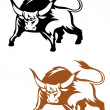 Wild buffalo bull — Stock Vector #9818397
