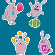 Easter rabbits — Stock Vector #9818399