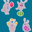Easter rabbits — Stock Vector