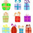 Holiday gifts with ribbons — Stock Vector #9818403