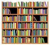 Isolated bookshelf — Stock Vector