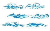 Símbolos de la onda — Vector de stock