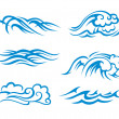 Surf waves — Stockvector #9929842